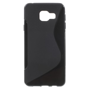S Shape TPU Case for Samsung Galaxy A3 SM-A310F (2016) - Black