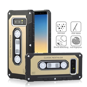 ANGIBABE Cassette Tape Shape PC + TPU Combo Case for Samsung Galaxy Note 8 SM-N950 - Gold