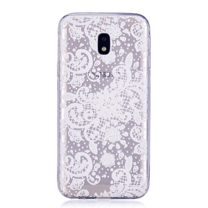 Pattern Printing Soft TPU Gel Phone Case for Samsung Galaxy J3 Pro (2017) / J3 (2017) EU Version - Flower Pattern