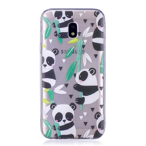 Pattern Printing Soft TPU Gel Cellphone Case for Samsung Galaxy J3 Pro (2017) / J3 (2017) EU Version - Panda Pattern