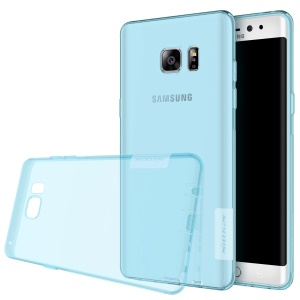 NILLKIN Nature TPU Protective Back Case Shell for Samsung Galaxy Note FE/Fan Edition N935 - Blue