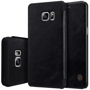 NILLKIN Qin Series for Samsung Galaxy Note FE/Fan Edition Leather Card Holder Case Cover - Black