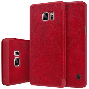 NILLKIN Qin Series for Samsung Galaxy Note FE/Fan Edition Leather Card Holder  Phone Case - Red