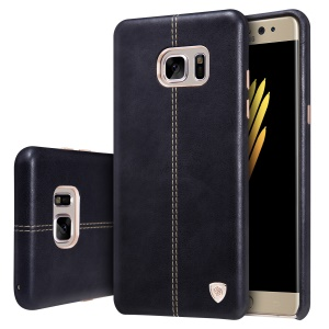 NILLKIN Englon Series Leather Coated Hard Plastic Case for Samsung Galaxy Note Fan Edition N935 - Black
