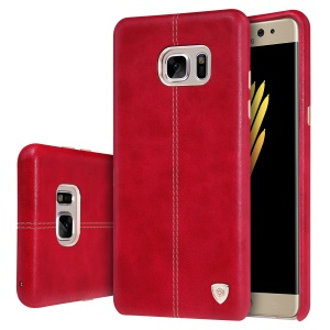 NILLKIN Englon Series Leather Coated Hard Shell Case for Samsung Galaxy Note Fan Edition N935 - Red