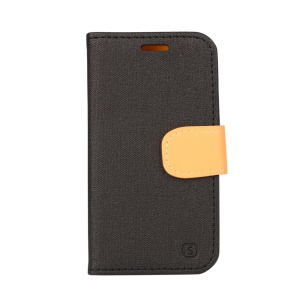 Wallet Leather Stand Case for Samsung Galaxy J1 / J1 4G - Black