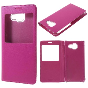 Window Leather Flip Cover for Samsung Galaxy A5 SM-A510F - Rose