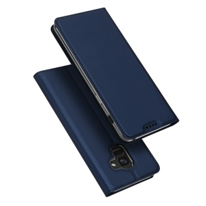 DUX DUCIS Skin Pro Series Card Slot Stand Leather Case for Samsung Galaxy A8 (2018) - Dark Blue