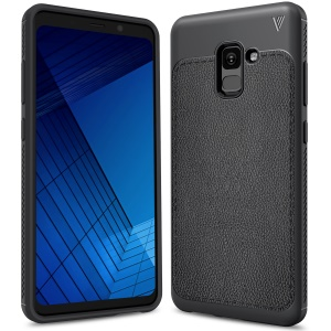 LENUO Gentlemen Series Soft TPU Phone Case for Samsung Galaxy A8 Plus (2018) - Black