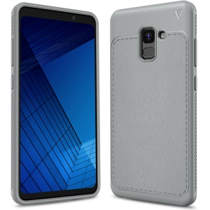 LENUO Gentlemen Series Soft TPU Phone Cover for Samsung Galaxy A8 Plus (2018) - Grey