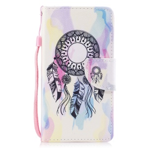 Pattern Printing Leather Wallet Cover for Samsung Galaxy J7 Pro (2017) / J7 (2017) EU Version - Dream Catcher