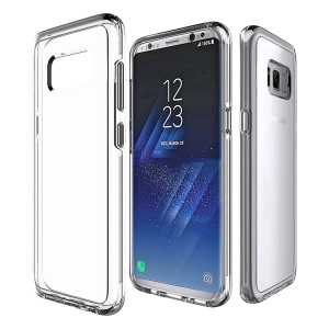 Clear PC Back + TPU Frame Hybrid Protective Cover for Samsung Galaxy S8 Plus G955 - Transparent