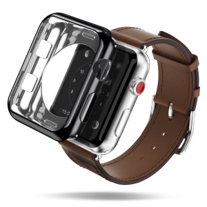 Dux Ducis Flexible TPU Electroplating Cover for Apple Watch Series 3 Series 2 42mm - Black