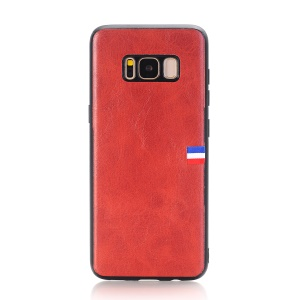 Vintage Crazy Horse PU Leather Coated TPU Mobile Phone Shell for Samsung Galaxy S8 SM-G950 - Red