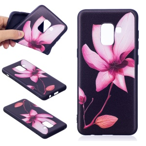 Embossment Pattern TPU Back Phone Shell for Samsung Galaxy A8 (2018) - Pretty Flower