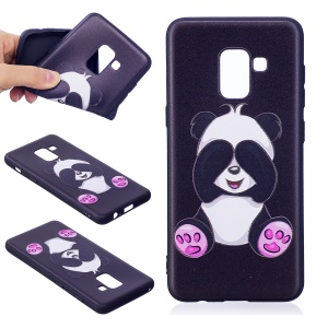 Embossment Pattern TPU Mobile Phone Case Accessory for Samsung Galaxy A8 (2018) - Adorable Panda