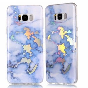 Marble Pattern Electroplating TPU Slim Case for Samsung Galaxy S8 G950 - Blue