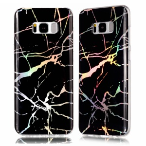 Marble Pattern Electroplating TPU Slim Shell for Samsung Galaxy S8 Plus SM-G955 - Black
