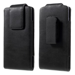 PU Leather Wallet Mobile Phone Case with Belt Clip for Samsung Galaxy Note 8 - Black