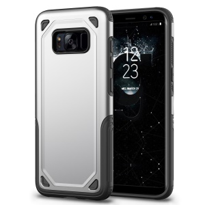 Plastic + TPU Hybrid Rugged Armor Back Case for Samsung Galaxy S8 SM-G950 - Silver