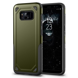 Rugged Armor PC + TPU Hybrid Cell Phone Cover for Samsung Galaxy S8 Plus SM-G955 - Army Green