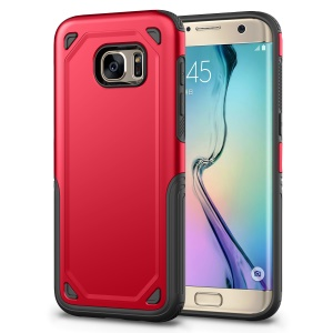 Rugged Armor Plastic + TPU Hybrid Protection Case for Samsung Galaxy S7 G930 - Red