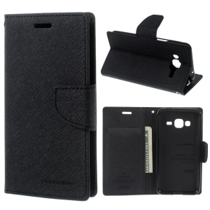 MERCURY GOOSPERY Fancy Diary Leather Case for Samsung Galaxy J3 / J3 (2016)- Black