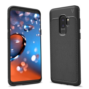 IVSO Gentry Series Litchi Texture Leather Coated TPU Case for Samsung Galaxy S9+ - Black