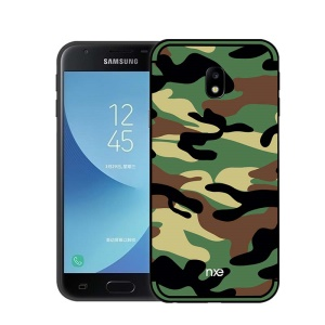 NXE Camouflage Kickstand PC TPU Combo Mobile Case for Samsung Galaxy J3 (2017) EU Version/J3 Pro (2017) - Army Green