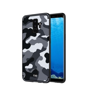 NXE Camouflage Series TPU + PC Hybrid Back Case with Expanding Mount for Samsung Galaxy S9+ G965 - Grey