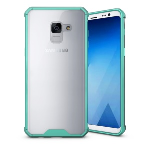 Armor Transparent Acrylic + TPU Combo Case Cover for Samsung Galaxy A8 (2018) - Cyan