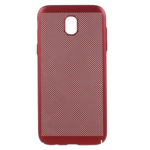 Hollow Mesh Heat Dissipation PC Phone Cover for Samsung Galaxy J5 Pro (2017) / J5 (2017) EU Version - Red