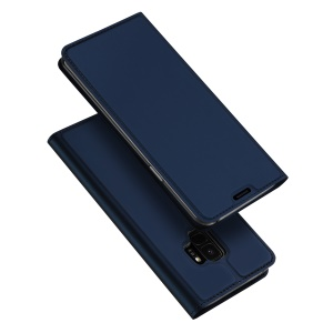 DUX DUCIS Skin Pro Series Cell Phone Leather Card Holder Case for Samsung Galaxy S9 - Blue