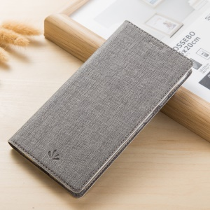 VILI DMX Cross Texture Card Holder Leather Stand Case for Samsung Galaxy A8 (2018) - Grey