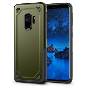 Hybrid PC + TPU Armor Rugged Mobile Case for Samsung Galaxy S9 G960 - Army Green