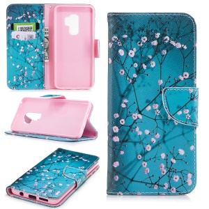 Pattern Printing Wallet Leather Stand Phone Shell for Samsung Galaxy S9 Plus G965 - Wintersweet