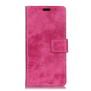 Vintage Style Wallet Leather Stand Protective Copertura for Samsung Galaxy S9 Plus G965 - Rose