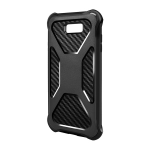 Carbon Fiber Texture PC + TPU Hybrid Drop-proof Case for Samsung Galaxy J7 V/J7 Perx/J7 Sky Pro - Black