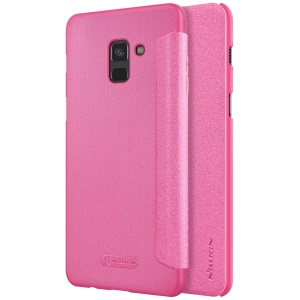 NILLKIN Sparkle Series Folio Leather Flip Cover Accessory for Samsung Galaxy A8 (2018) - Rose