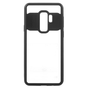 Transparent Acrylic Back + TPU Frame Hybrid Mobile Phone Case for Samsung Galaxy S9+ G965 - Black