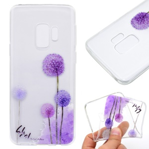 Patterned Soft TPU Phone Accessory Cover for Samsung Galaxy S9 Plus - Purple Dandelions