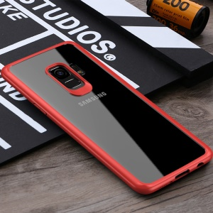 IPAKY TPU Frame + Clear Acrylic Hybrid Shell for Samsung Galaxy S9 G960 - Red