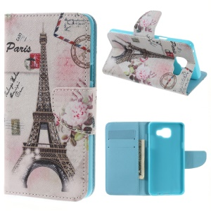 Wallet Leather Stand Cover for Samsung Galaxy A5 SM-A510F (2016) - Paris Eiffel Tower