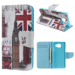 Wallet Leather Phone Case for Samsung Galaxy A5 SM-A510F (2016) - Retro Big Ben