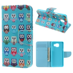 Wallet Leather Cover Case for Samsung Galaxy A5 SM-A510F (2016) - Multiple Owls