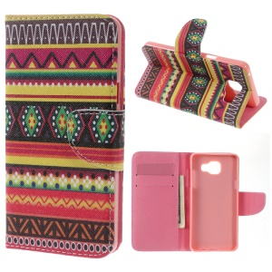 Protective Leather Stand Case for Samsung Galaxy A5 SM-A510F (2016) - Tribal Tribe
