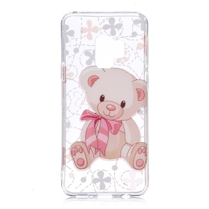 Patterned IMD Soft TPU Back Case for Samsung Galaxy S9 - Cute Bear