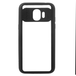Silicone Edge + Crystal Acrylic Back Combo Shell Case for Samsung Galaxy J2 Pro 2018 - Black