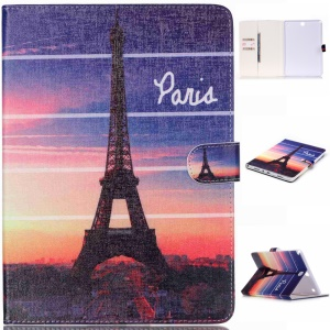 Patterned Leather Tablet Cover for Samsung Galaxy Tab A 9.7 T550 T555 - Eiffel Tower