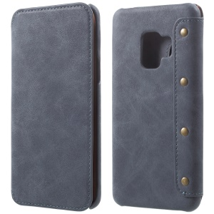 Flip Wallet PU Leather Case for Samsung Galaxy S9 - Grey